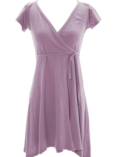 Bev's Wrap Dress . Organic Cotton Jersey - Fair Trade