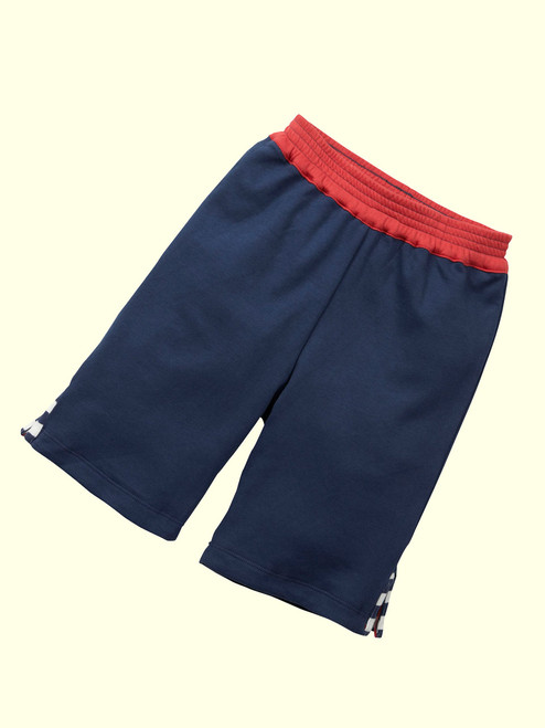 Reversible Navy Deck Shorts . Organic Cotton - Fair Trade