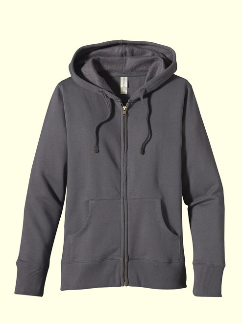 Women's Zip Hoody - 80% Organic Cotton & 20% recycled polyester