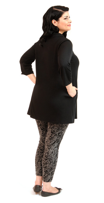 Women's Plus Size Function Tunic - Certified Organic Bamboo jersey knit blended