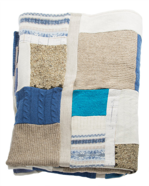 Cuddle Me Quilt - Recycled Vintage Fabrics