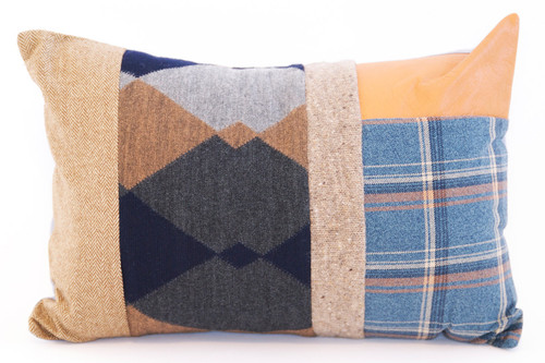Cottage Pillow - Recycled Vintage Fabrics