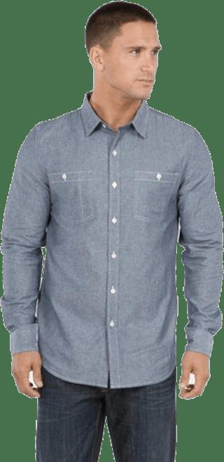 Men's Long Sleeves Work Shirt - Organic Cotton