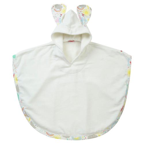 Organic Cotton Poncho Bathrobe - Fair Trade