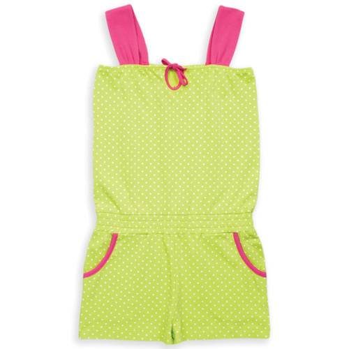 Organic Cotton Girl's Spotty Playsuit - Fair Trade