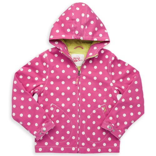 Organic Cotton Girl's Spotty Summer GO Coat - Fair Trade