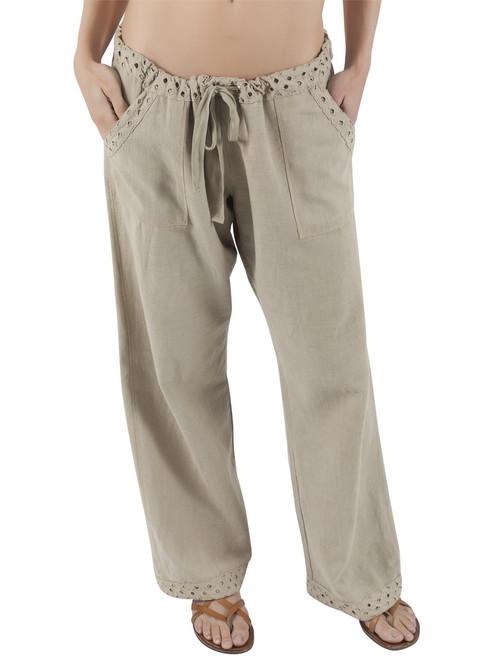 Organic Cotton Linen Mandy Drawstring Pant