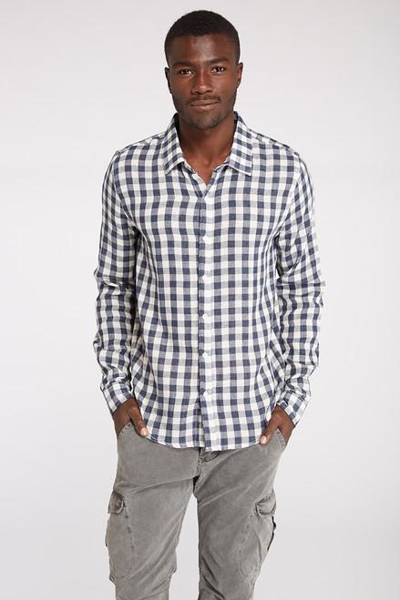 LS Checked Plaid Woven Shirt - Organic Cotton