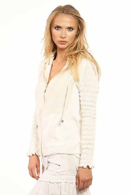 Lucy  Hooded Jacket - Jute and Cotton Blend