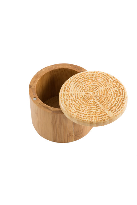 Tree Of Life Round Salt Box - Bamboo