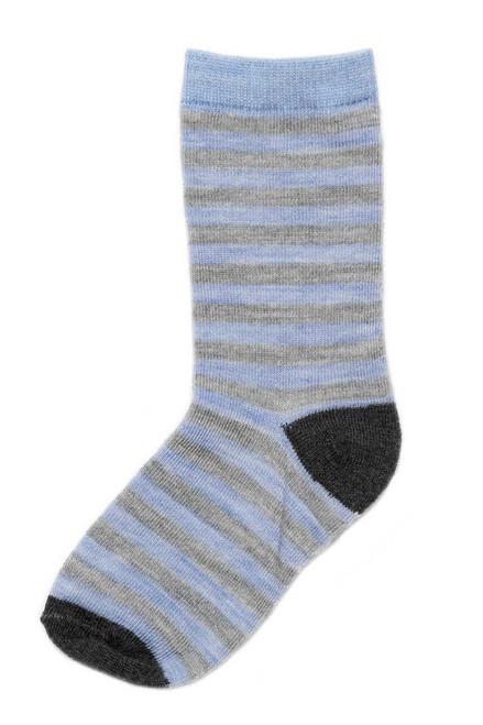 Sky Stripe Merino Wool Child Socks