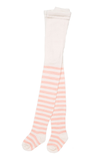 Pink Stripes Merino Wool Baby Tights