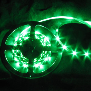 Ribbon Flex 60 LED 16.4 Foot Spool -Green- 12V