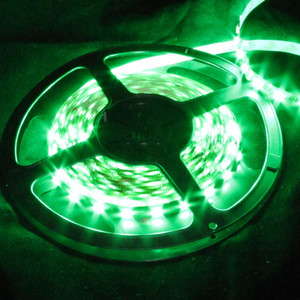 Ribbon Flex 60 LED High Output 5050 16.4 Foot Spool -Green- 12V