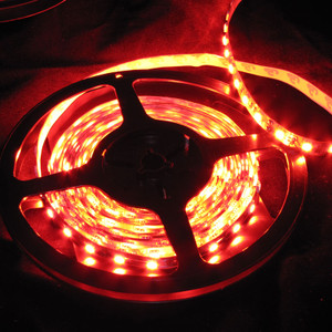 Ribbon Flex 60 LED High Output 5050 16.4 Foot Spool -Red- 12V