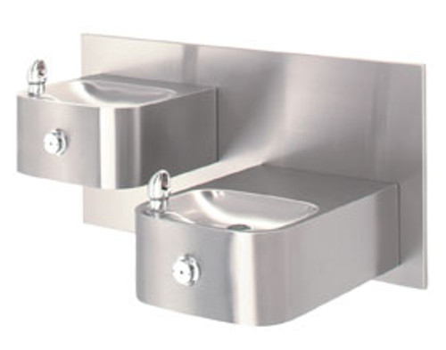 """Hi-Lo"" Barrier-Free Drinking Fountain Wall-Mounted"