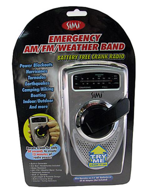 Emergency AM/FM/Weather Band Radio