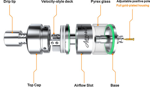 GEEKVAPE AVOCADO RTA AUTHENTIC [SS 22MM] ONLY $17.99 CLOSEOUT