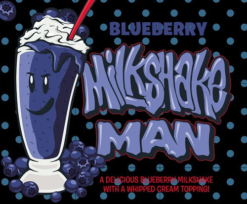 Blueberry Milkshake | Milkshake Man by Donuts E-Juice | 30ml & 120ml options (Special Buy)
