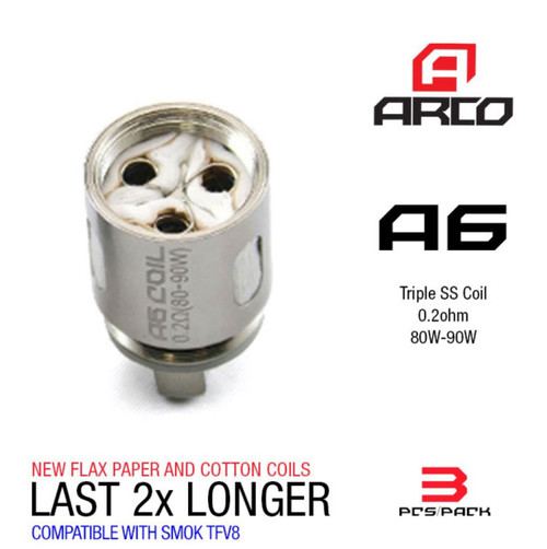 Arco Coils A6 Coils [3-pk] | Horizon Tech | 0.2ohm ( works with SMOK TFV8 )
