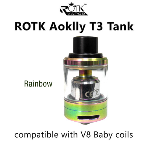 Aoklly T3 Tank | ROTK  (compatible Smok V8 Baby Coil)