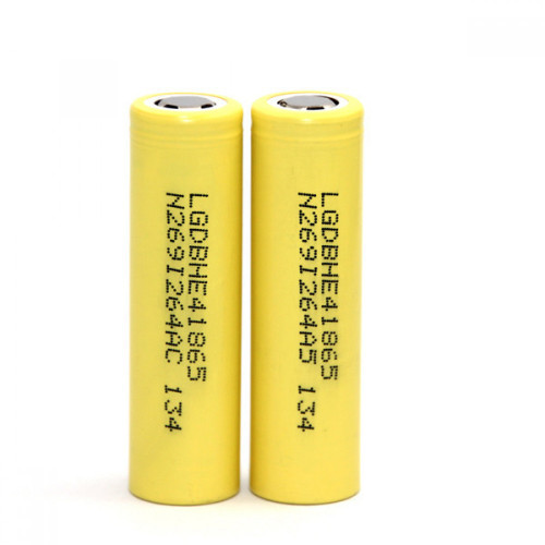 18650 HE4 35A 2500mAh yellow rechargeable Battery   LG