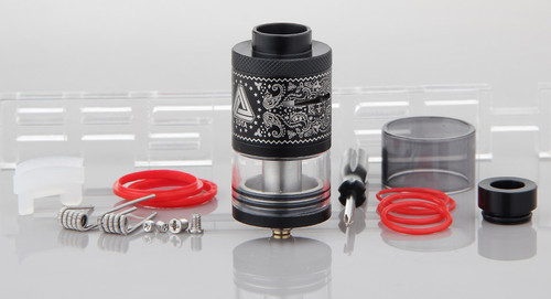 Limitless Plus RDTA is the upgraded version of the Limitless RDTA, which features 25mm diameter, and available in 2 colors: Black and Red. The new Limitless RDTA Plus now comes with Titanium screw so you do not have to worry about stripping your posts. With 6.3ml large juice capacity, which will allow you to enjoy the whole vaping process. 510 delrin drip tip adapter Glass tank 6.3ml juice capacity Upgraded 2 posts design 2.5mm post holes 11mm post distance Single coil plug Adjustable airflow  510 threading connection 25mm overall diameter