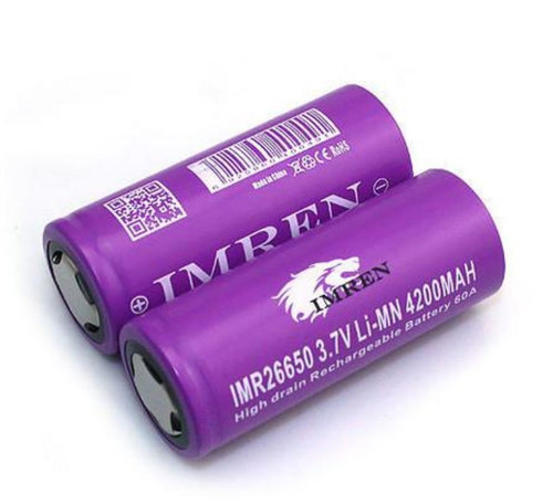 26650 MAX 60A 4200MAH PURPLE Lion High Drain Recharchable Battery | Imren