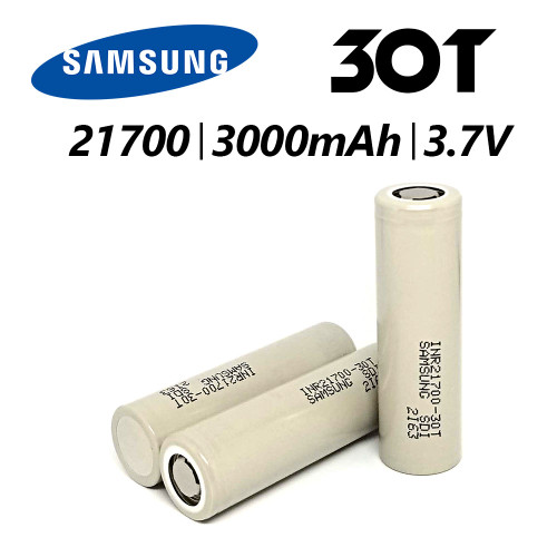 21700 - 3000 MAH - 35A - 3.7V  | 30T INR FLAT TOP  Recharchable Battery | Samsung
