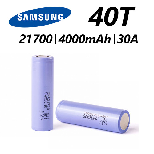 21700 - 4000 MAH - 30A - 3.6V  | 40T INR FLAT TOP  Recharchable Battery | Samsung