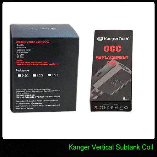 OCC VERTICAL COILS 10 PACKS OF 5 COILS. 50 TOTAL COILS $99.00 WITH FREE SHIPPING | Kangertech