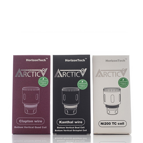 HORIZON TECH ARCTIC V8 COILS CLAPTON, KANTHAL, SNAKE, TIGER, HIVE AND NICKEL COILS ONLY $14.99 CLOSE OUT!
