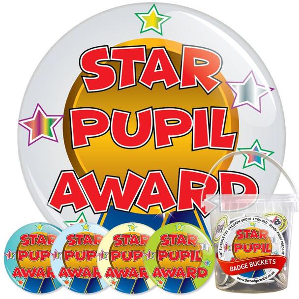 School Star Pupil Award Badge Bucket 2