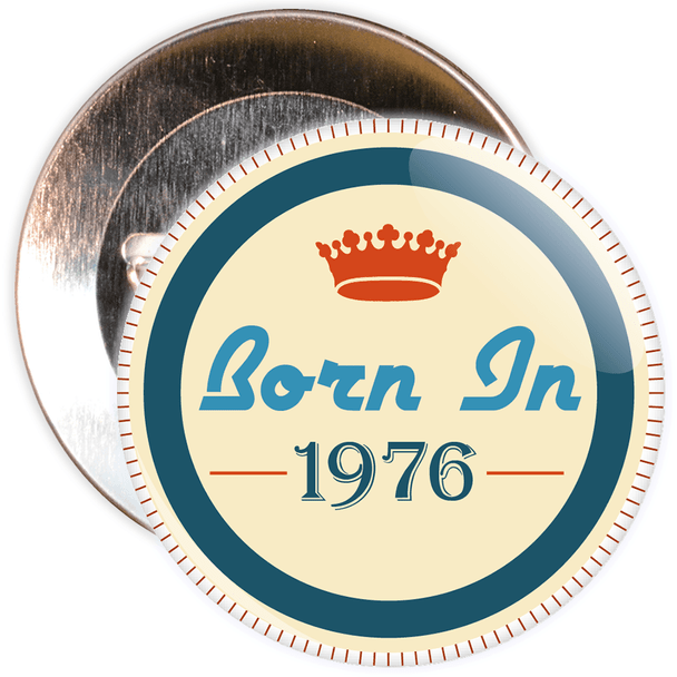 Born in 1976 Birthday Badge