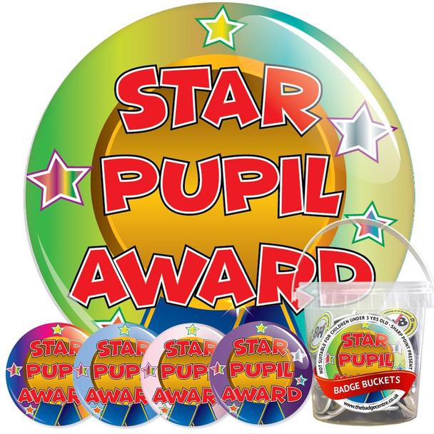 Star Pupil Award Badge Bucket 1