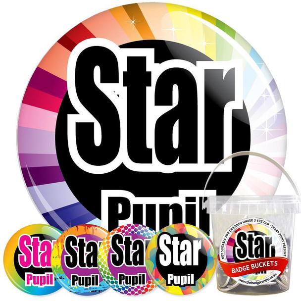 School Star Pupil Badge Bucket 1