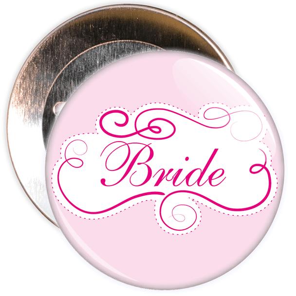 Pink Bride Hen Party Badge