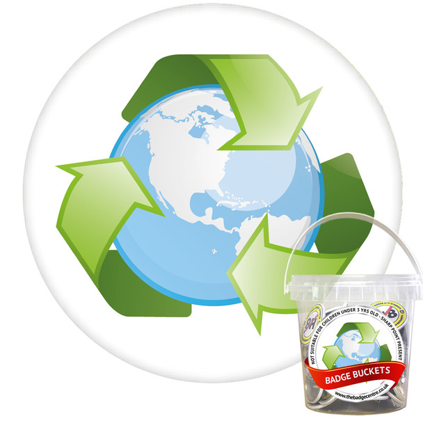Pack of Recycle Badges - Badge Bucket