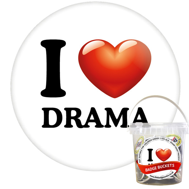 Pack of I Love Drama Badges - Badge Bucket