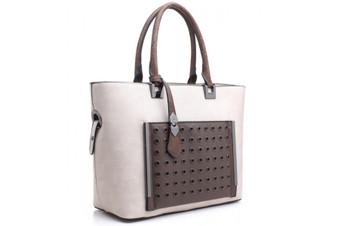 Bessie London Panel Detail Tote Bag (BB2905-APRICOT)