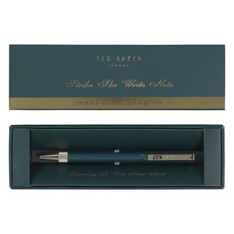 Ted Baker Emerald Green Ballpoint Pen (TED335)