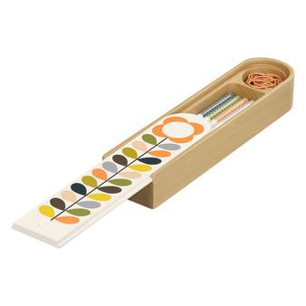 Orla Kiely Wooden Pencil Box - Multi Stem (OK116)