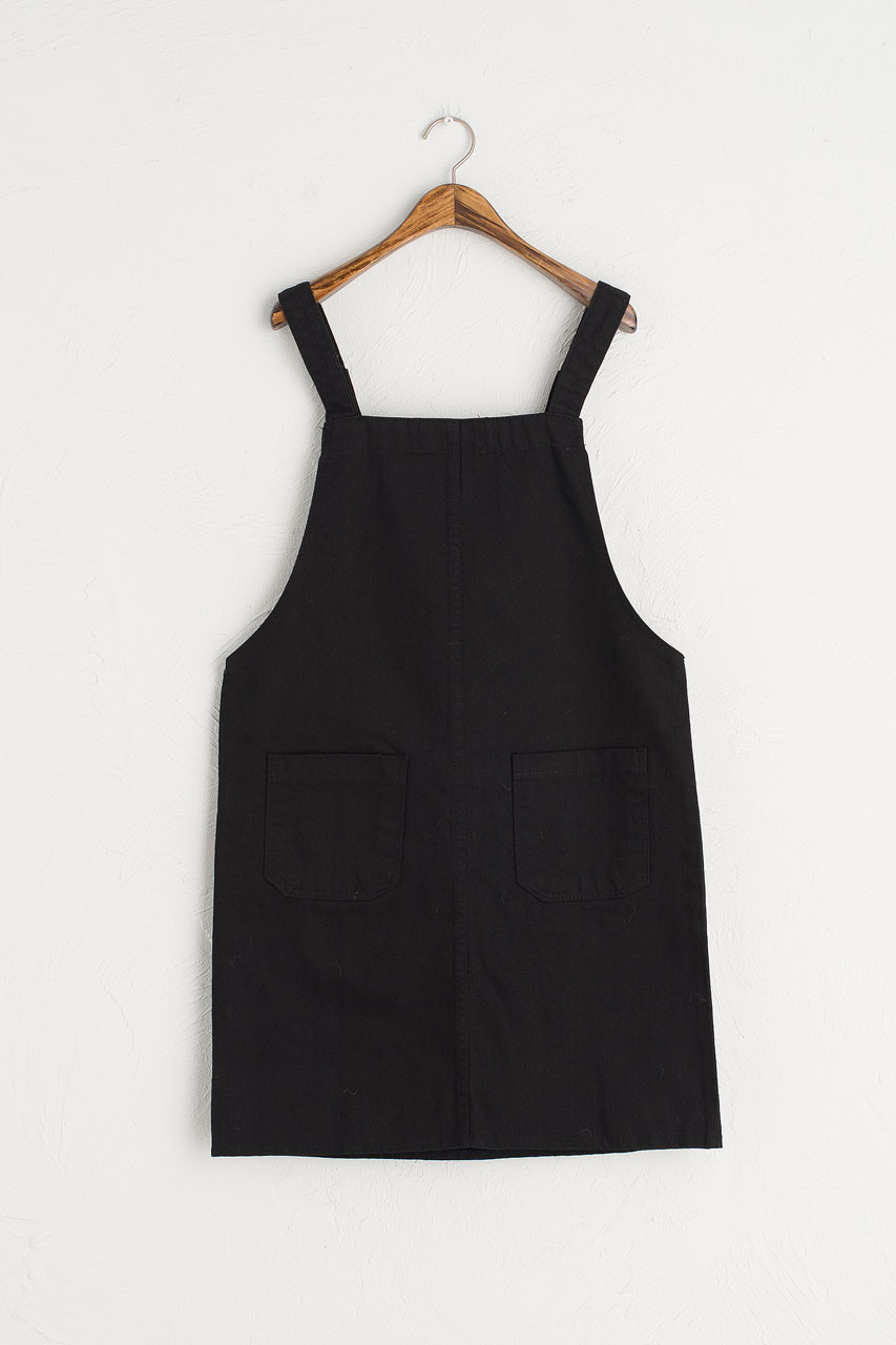 Apron Dress, Black-7575