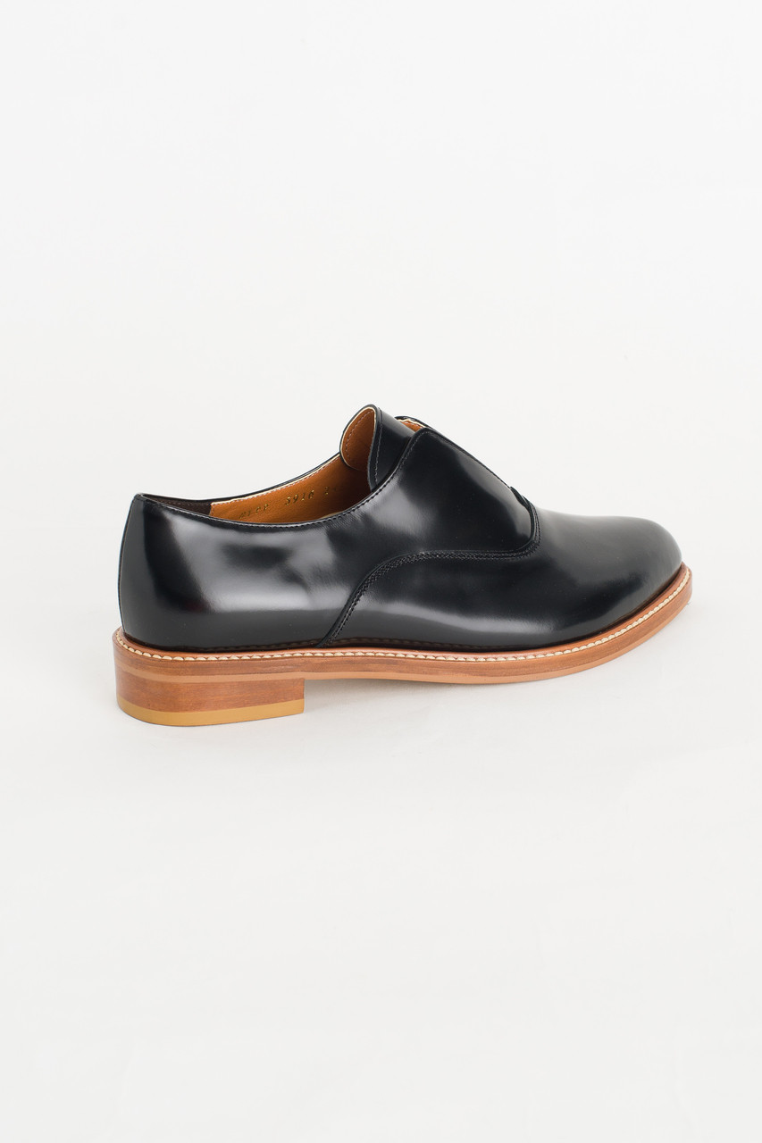 Leather Simple Shoes, Black