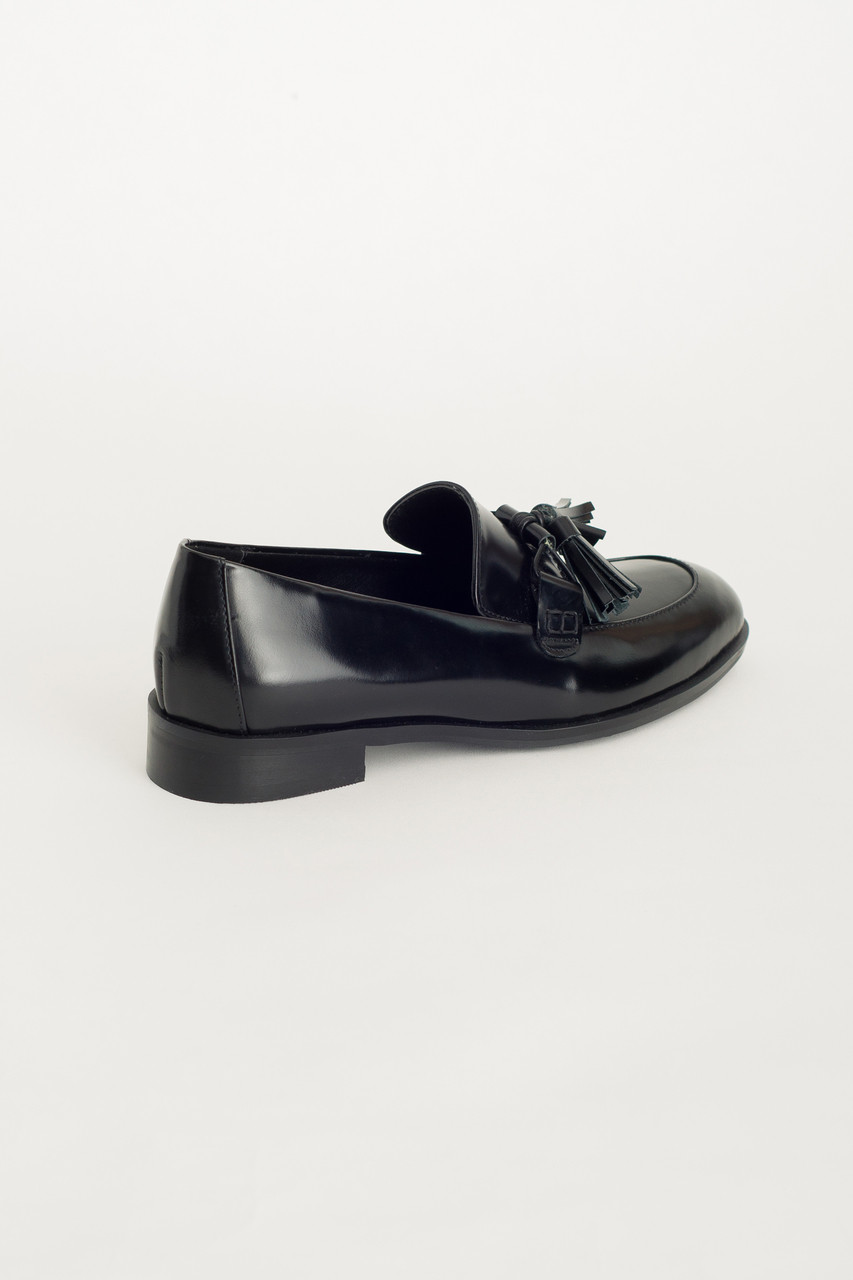 Tassel Detail Shoes, Black