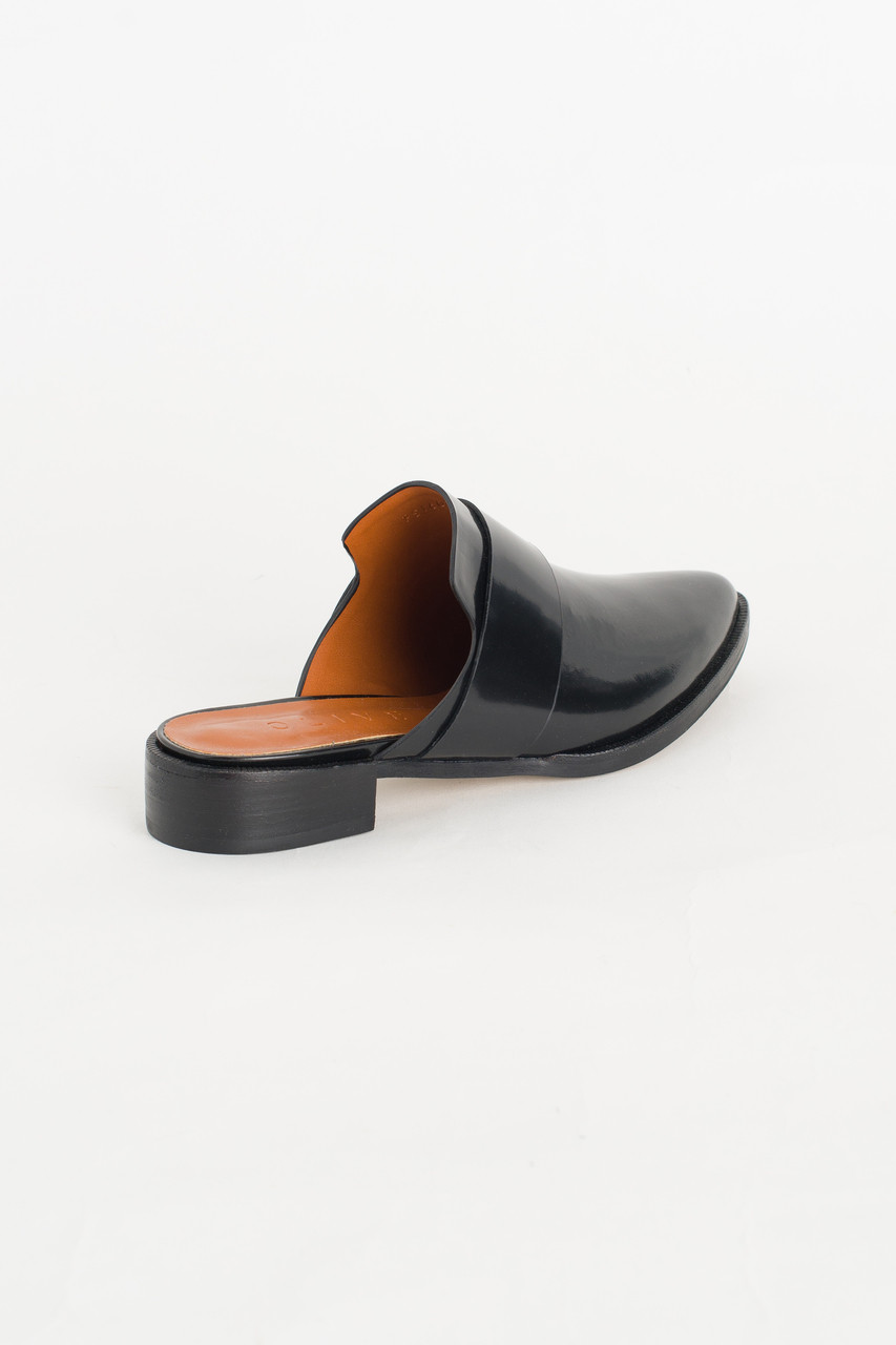 Pointed Mules, Black