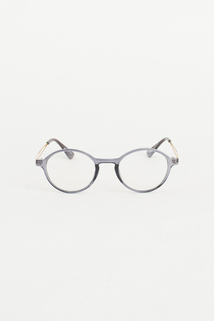 Grey Circle Body Glasses, Grey