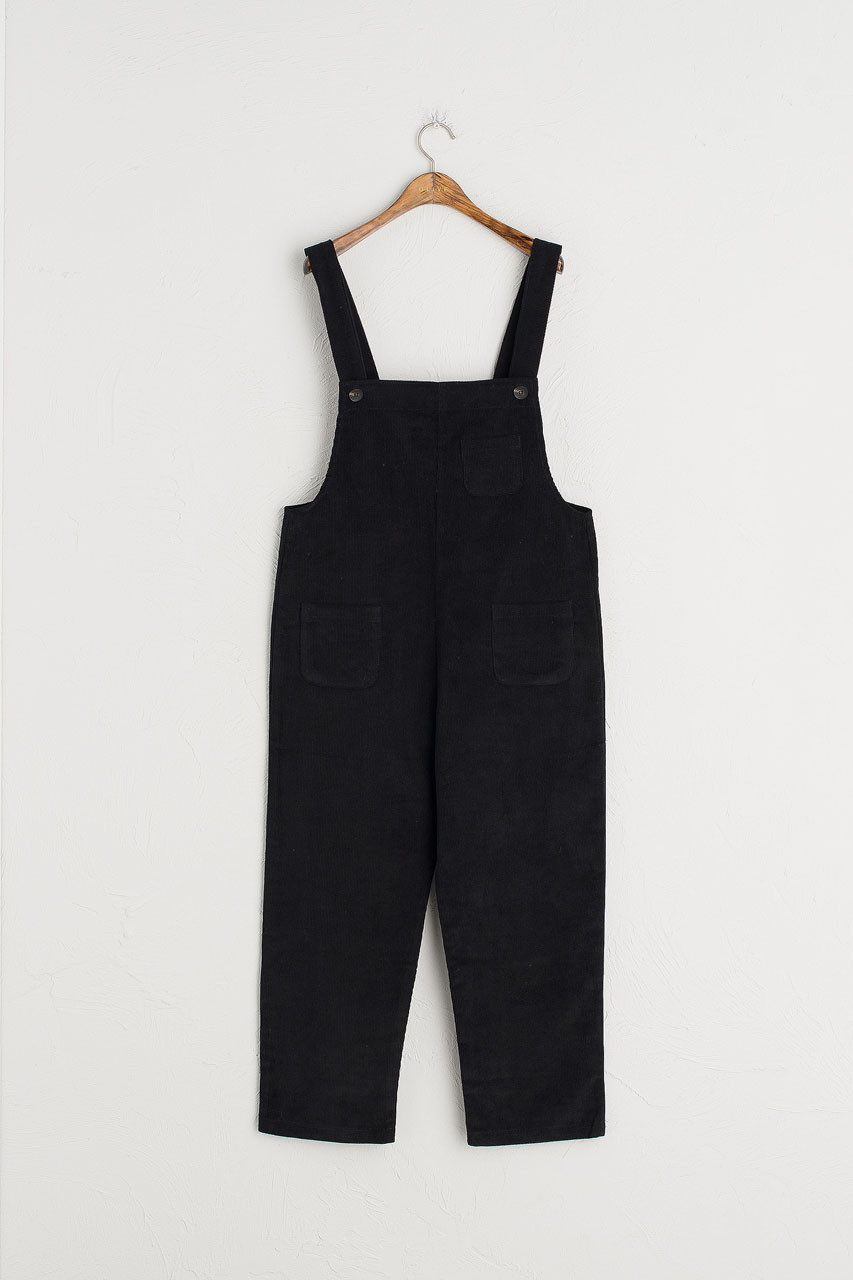 Pocket Point Corduroy Dungarees, Black