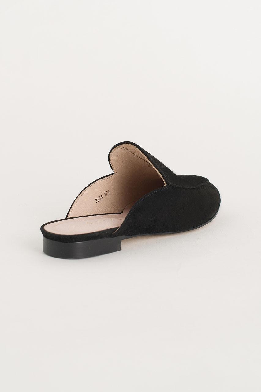 Simple Suede Sliders, Black