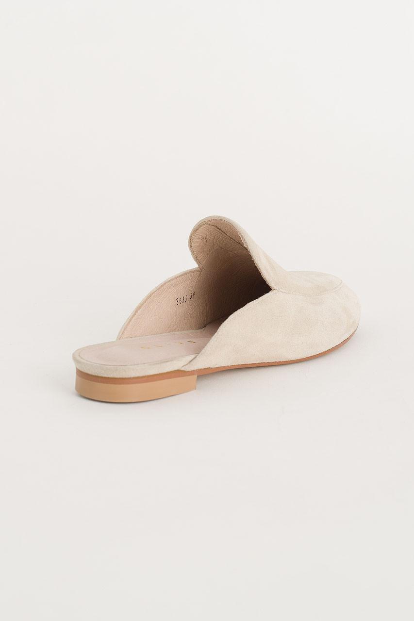 Simple Suede Sliders, Ivory